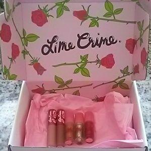 Lime Crime Matte Velvetines/Wet Cherry Gloss